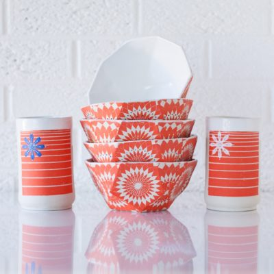 """Edie Frylings<br> Masterpiece Doodle<br> Geometically-inspired functional and decorative ceramics<br> <a href=""""https://www.masterpiecedoodle.com"""" target=""""_blank"""">www.masterpiecedoodle.com</a>"""