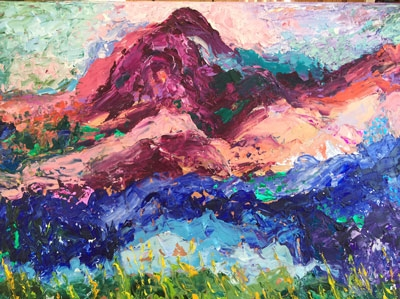 Harriet Edelstein<br>Oil and mixed media paintings<br>