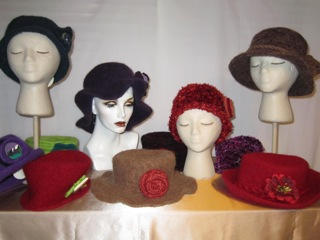 Rebecca Lecy <br>Sassy Hats, Etc <br>Knitted and felted accessories <br>