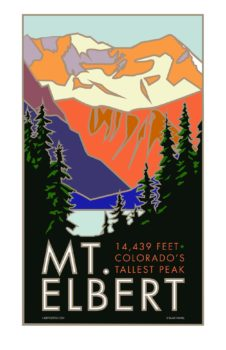 """Blair Hamill<br> 14er Stickers & Posters<br> Posters, stickers and fine art prints of Colorado 14ers <a href=""""https://www.14erstickers.com"""" target=""""_blank"""">www.14erstickers.com</a>"""